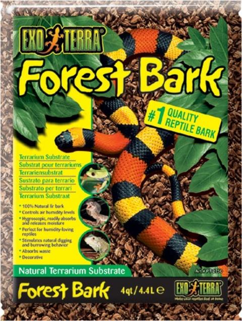 Pakaiši terārijam - ExoTerra Forest Bark 4,4 L title=