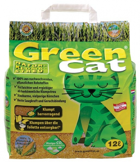 Кукурузный наполнитель для кошачьего туалета - GreenCat, 12 L title=
