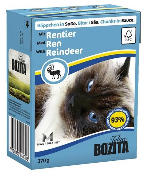 Консервы для кошек - BOZITA Chunks in Sauce with Reindeer, Tetra Pack, 370g