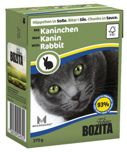 Konservi kaķiem - BOZITA Chunks in Sauce with Rabbit, Tetra Pack, 370g