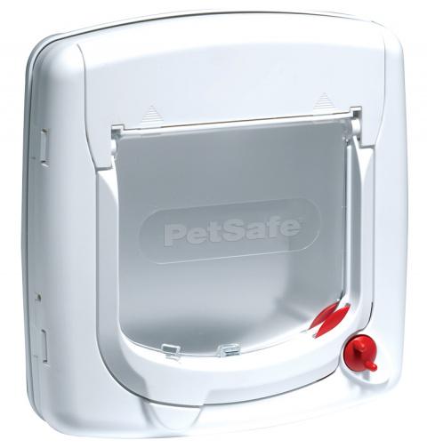 Дверца для животных - Staywell, PetSafe, Cat Flap 300, white, 25,2 см x 24,1 см  title=