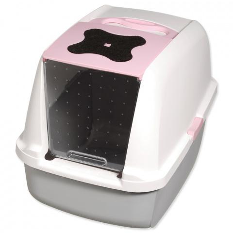 Туалет для кошек - Cat It Design (grey/pink) title=