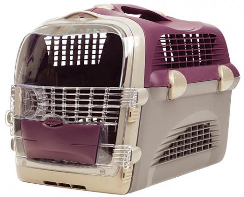 Transportēšanas bokss - Pet Cargo Cabrio (violet/grey) 51x33x35cm