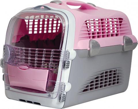 Транспортировочная переноска - Pet Cargo Cabrio (розовый/серый) 51x33x35cm title=