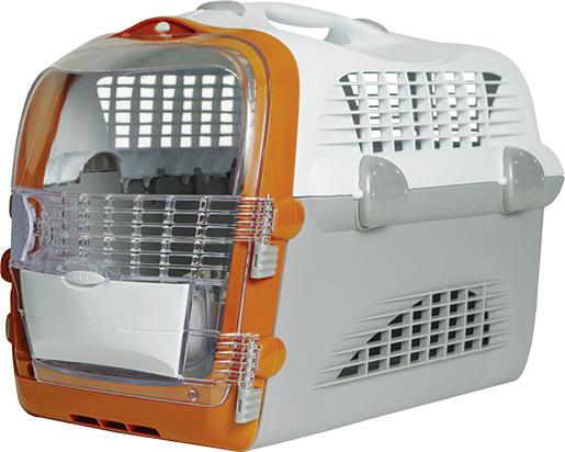 Transportēšanas bokss - Pet Cargo Cabrio (white/grey) 51x33x35cm