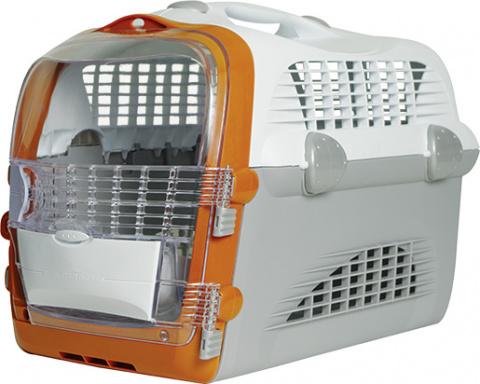 Транспортировочная переноска - Pet Cargo Cabrio (белый/серый) 51x33x35cm title=