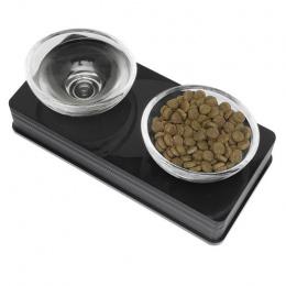 Bļoda kaķiem - Cat It Glass Diner (melna)