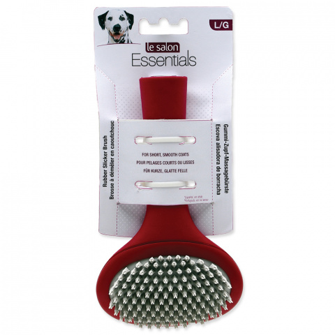 Расческа для собак - Le Salon Essentials Dog Rubber Slicker Brush, Large title=