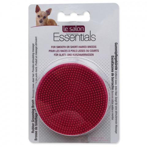 Расческа для собак - Le Salon Essentials Dog Round Rubber Grooming Brush, Red, 3 in dia. title=