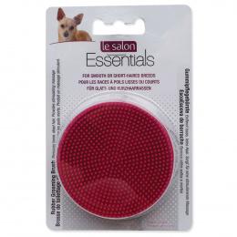 Расческа для собак - Le Salon Essentials Dog Round Rubber Grooming Brush, Red, 3 in dia.