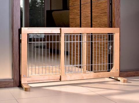 Barjera suņiem – TRIXIE Dog Barrier, 63–108 x 50 x 31 cm title=