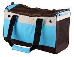 Transportēšanas soma dzīvniekiem - Fiona Bag, neilona, 18*25*40 cm, light zila/bēša krāsa/brūna