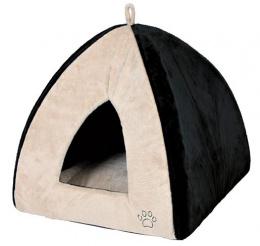 Guļvieta kaķiem - Gina Cuddly Cave, 42*37*42cm, bēša krāsa/black