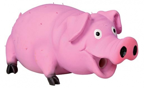 Игрушка для собак - TRIXIE Bristle Pig, Latex, 21см