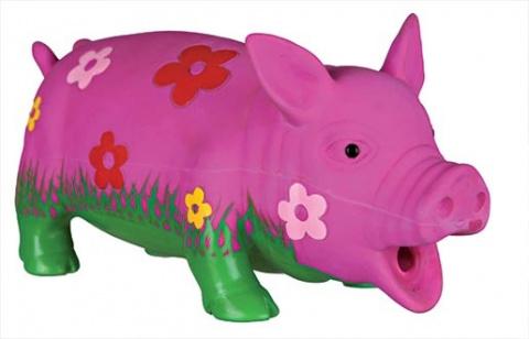 Игрушка для собак – TRIXIE Flower Pig, Latex, 20 см title=
