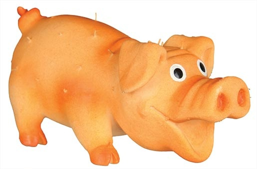Игрушка для собак - TRIXIE Bristle Pig, Latex, 10см