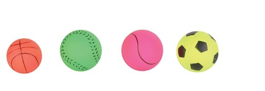 Rotaļlieta suņiem - Trixie Assortment Toy Balls, Foam Rubber, 3.5/4.5 cm