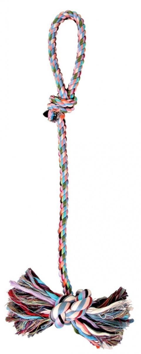 Игрушка для собак - Denta Fun Игровая веревка, 70cm, Хлопок mix title=