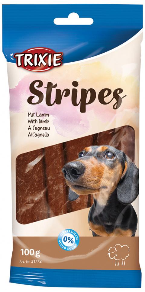 Gardums suņiem - TRIXIE Stripes with Lamb, 10 gab., 100 g title=