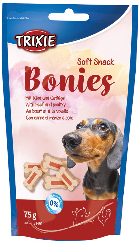 Gardums suņiem - Soft Snack Bonies, 75g title=