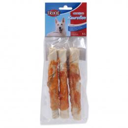 Лакомство для собак - Denta Fun Chewing Rolls with Chicken, 17cm/3шт