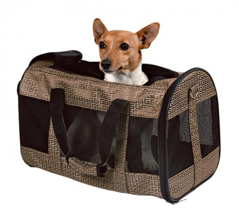 Сумка для транспортировки животных -Trixie Malinda Carrier,  27 x 30 x 50 см, bronze title=