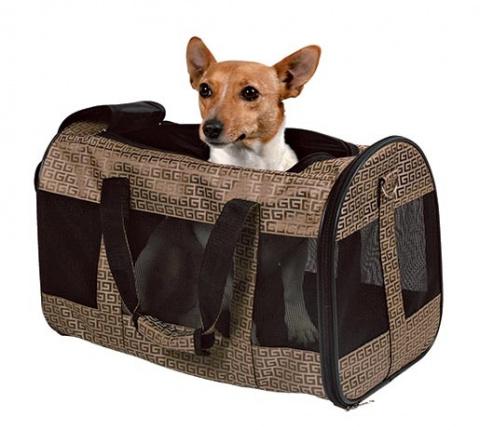 Transportēšanas soma dzīvniekiem - Trixie Malinda Carrier, 27 x 30 x 50 cm, bronze title=