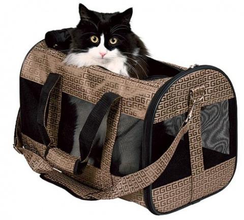 Сумка для транспортировки животных - Malinda Carrier, 26*24*38cm, бронзовый title=