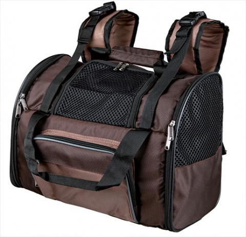 Mugursoma dzīvniekiem - Trixie Shiva backpack, 41*30*21 cm, brown/beige title=
