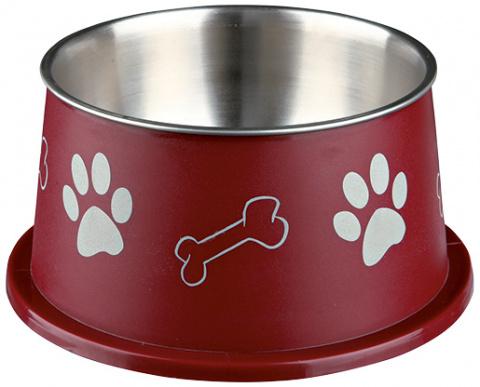 Миска для собак – Long-ear Bowl, Stainless Steel, Plastic Coated, 0,9 л/19 см title=