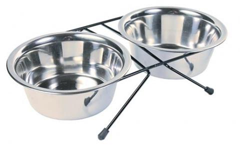 Paliknis ar blodām - Trixie, Eat-on-Feet bowl-set, 0,9 l, 15 cm