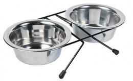 Подставка с мисками - Trixie, Eat-on-Feet bowl-set, 0,45 l, 12 cm