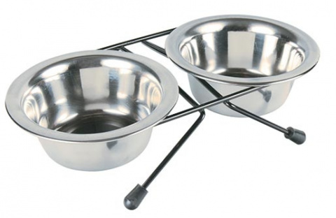 Paliknis ar blodām -Trixie, Eat-on-Feet bowl-set, 0,2 l, 10 cm