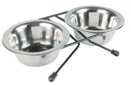 Подставка с мисками - Trixie, Eat-on-Feet bowl-set, 0,2l, 10 cm