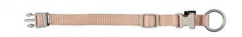 Kakla siksna suņiem - TRIXIE Premium Collar, neilona, 40-65cm/25mm, krāsa - bēša