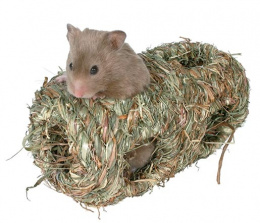 Аксессуар для грызунов - Trixie соломенный домик, 19 cм