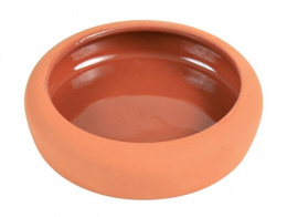 Керамическая миска для грызунов - Керамическая миска, с закругленным ободом, 125ml/10cm
