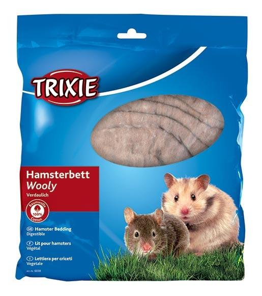 Vate ligzdas veidošanai grauzējiem – Trixie, Hamsters bedding, cotton, 100 g, brown