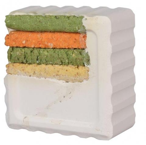 Минеральный камень для грызунов - Grawing Stones with Vegetable Sticks, 80 г