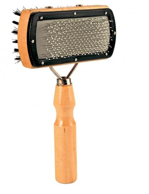 Расческа для собак – TRIXIE Soft Brush, double sided, 10 x 18 см title=