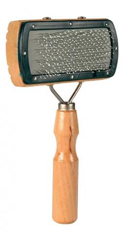 Расческа для собак, деревянная - Soft Brush, 10*18cm