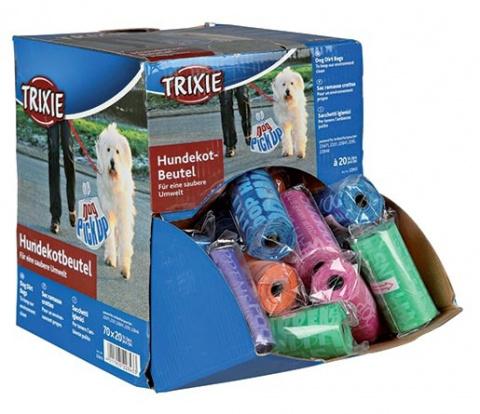 Maisiņi atkritumu savākšanai - Assortment Dog Dirt Bags, 1 roll of 20 bags