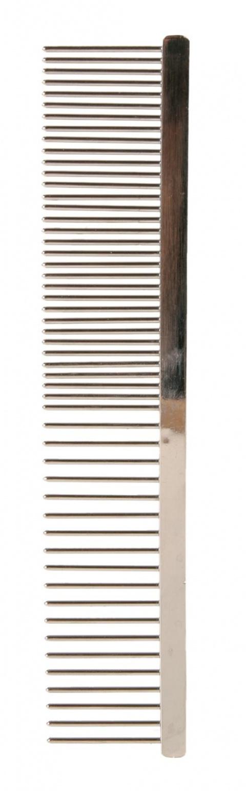 Расческа для собак – TRIXIE Metal comb, coarse-fine, 16 см title=
