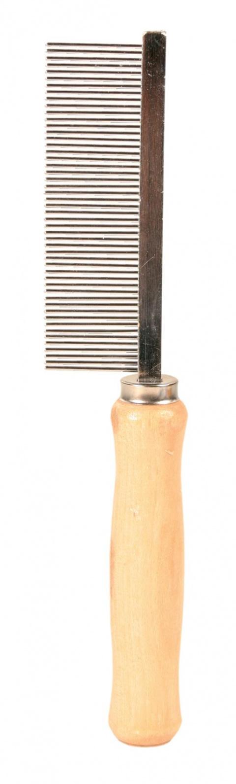 Расческа-фурминатор для собак, деревянная - Comb, 17cm title=