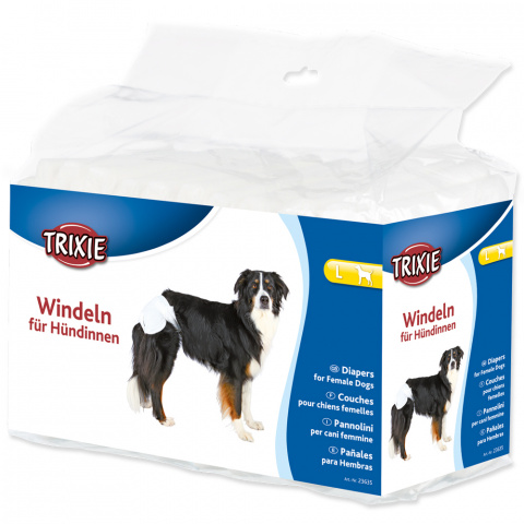 Autiņbiksītes suņiem - Diapers Trixie, L 12GB, 38-56 cm