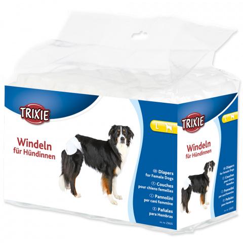 Autiņbiksītes suņiem – TRIXIE Diapers for Female Dogs, L: 38–56 cm, 12 gab. title=