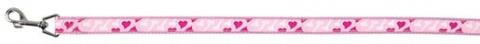 Поводок для собак - Modern Art Rose Heart, XS, 1.20 m/10 mm, розовый