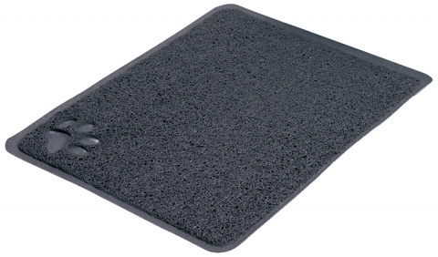 Коврик для кошачьего туалета – TRIXIE Litter Tray Mat, PVC, 37 x 45 см, Anthracite title=