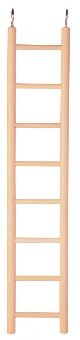Aksesuārs putnu būrim - Trixie Wooden Ladders 36 cm / Koka trepes putniem (8 soļi)