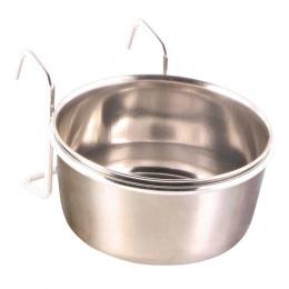 Миска для птиц - Стальная миска с держателем, 300ml, 9cm
